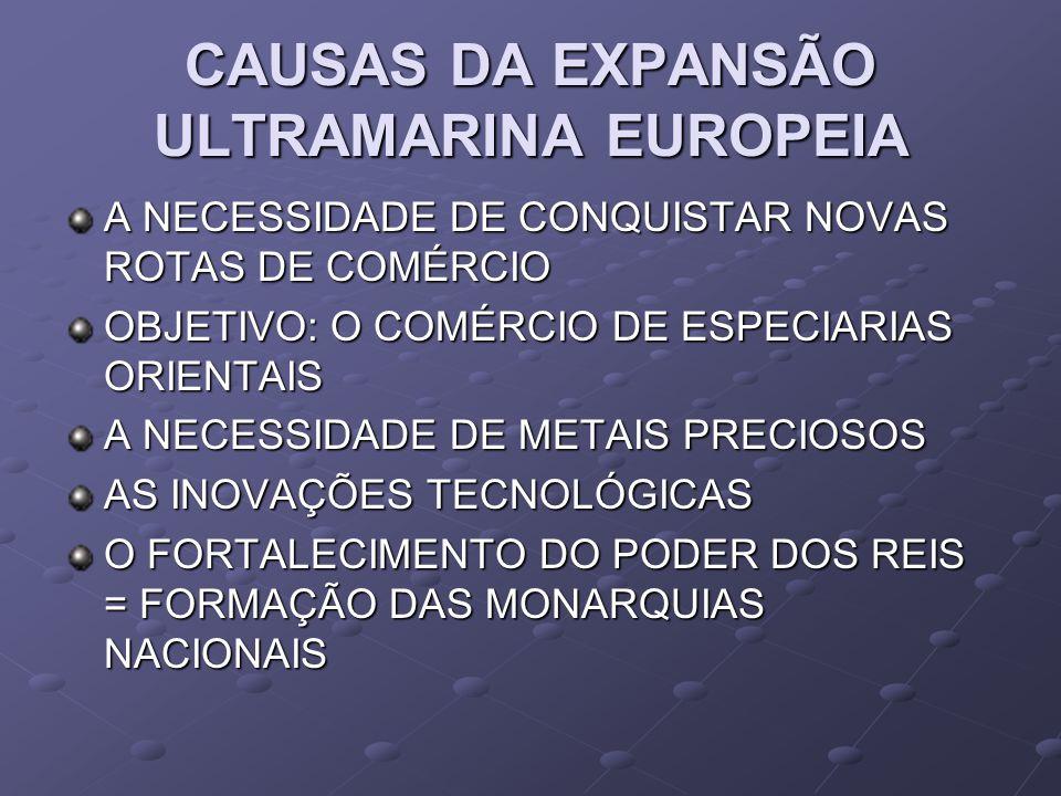 CAUSAS DA EXPANSÃO ULTRAMARINA EUROPEIA