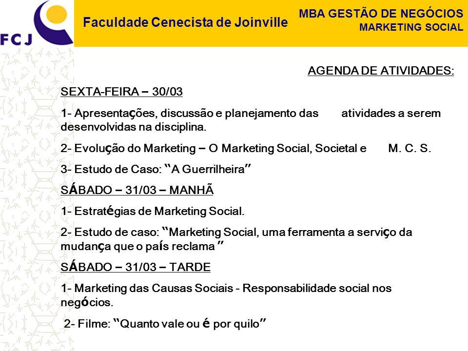 AGENDA DE ATIVIDADES: SEXTA-FEIRA – 30/03. 1- Apresentações, discussão e planejamento das atividades a serem desenvolvidas na disciplina.