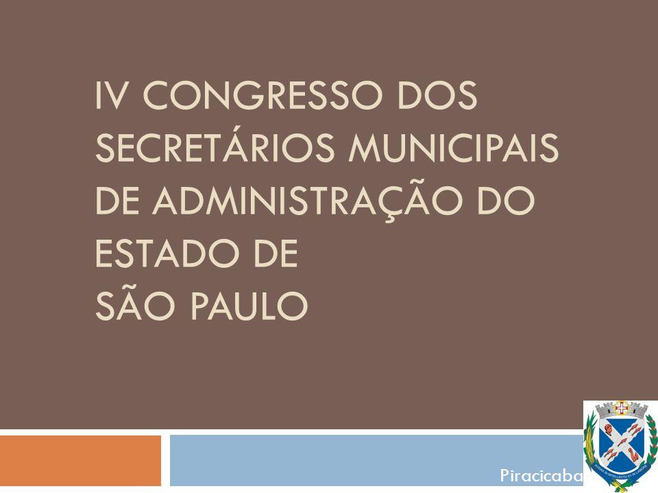 IV Congresso dos secretários municipais de administração do estado de são paulo