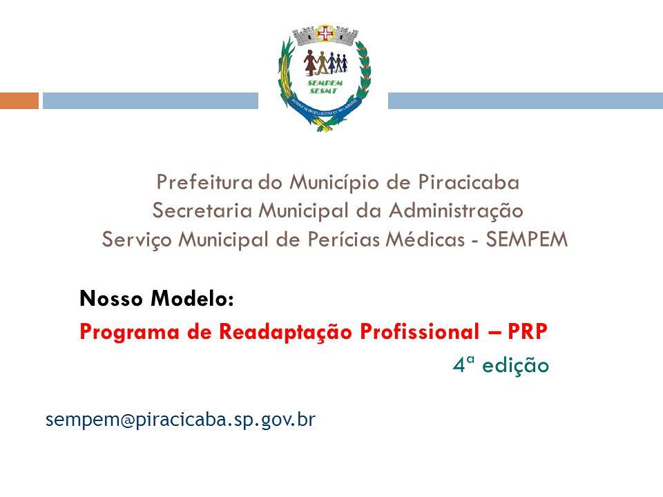 Nosso Modelo: Programa de Readaptação Profissional – PRP 4ª edição