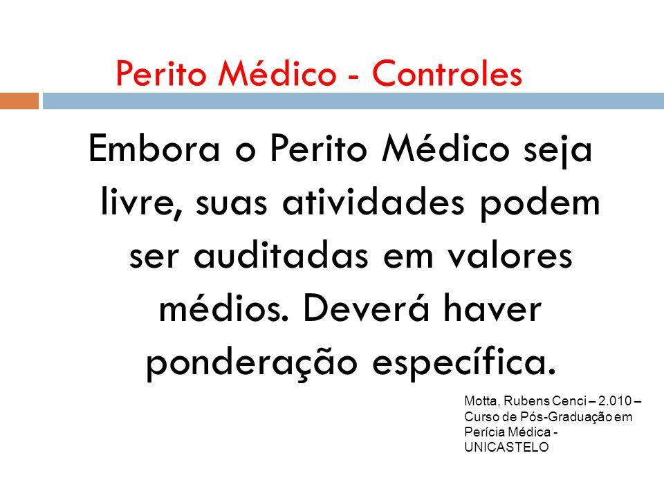 Perito Médico - Controles