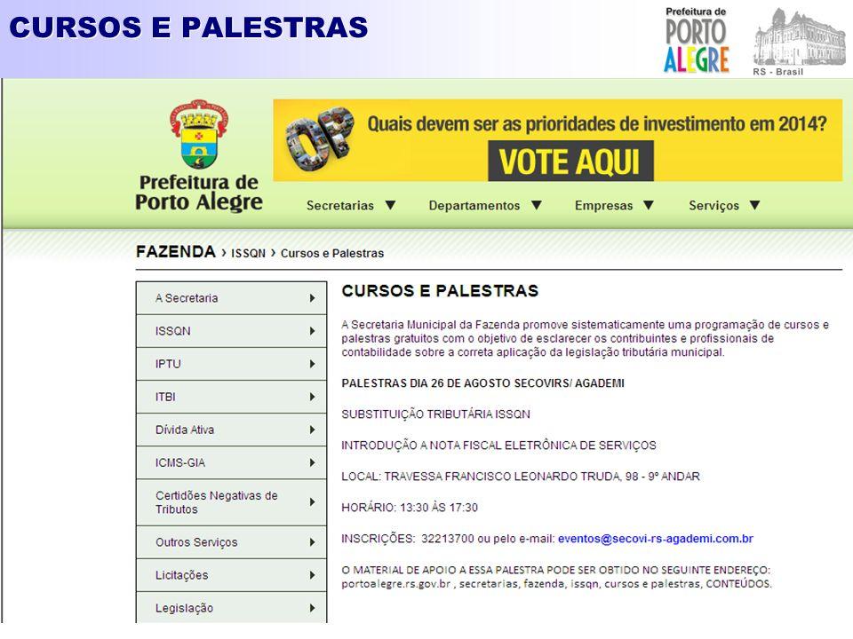 CURSOS E PALESTRAS