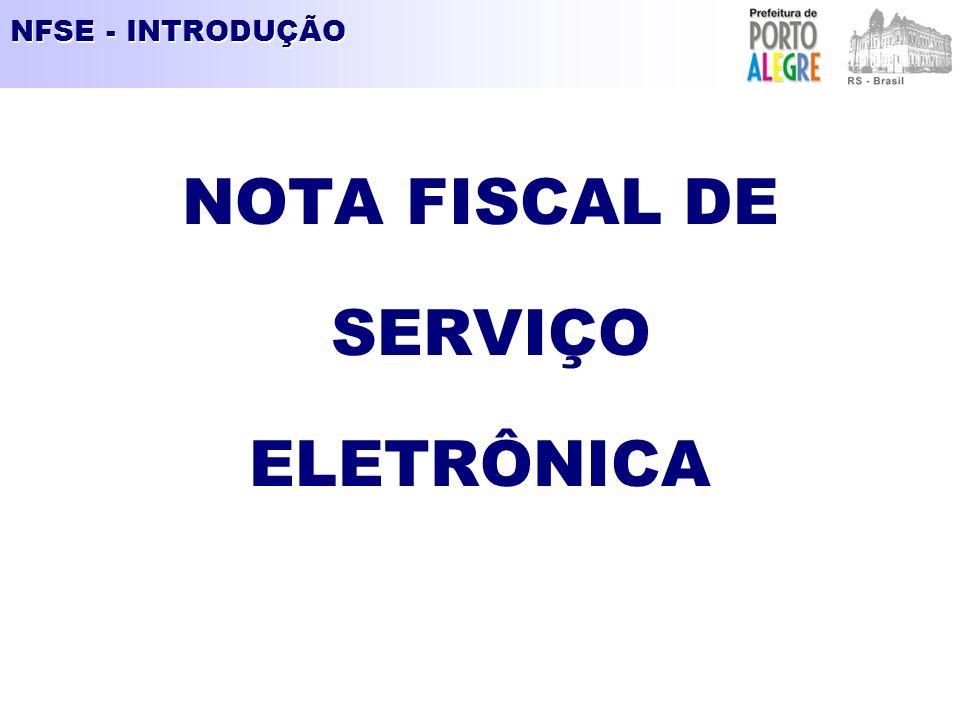 NOTA FISCAL DE SERVIÇO ELETRÔNICA