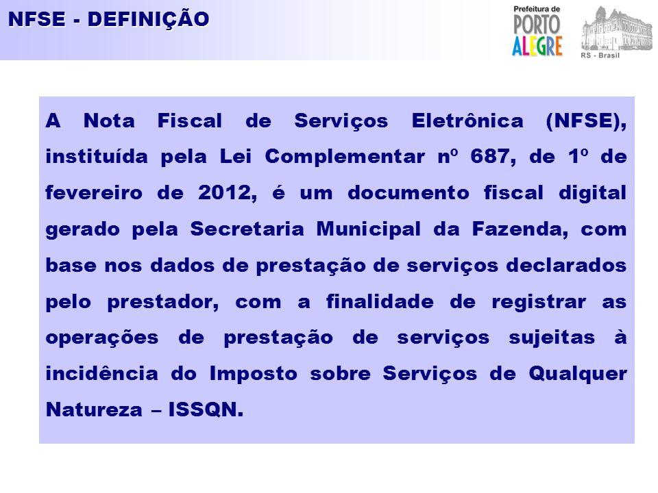 NFSE - DEFINIÇÃO