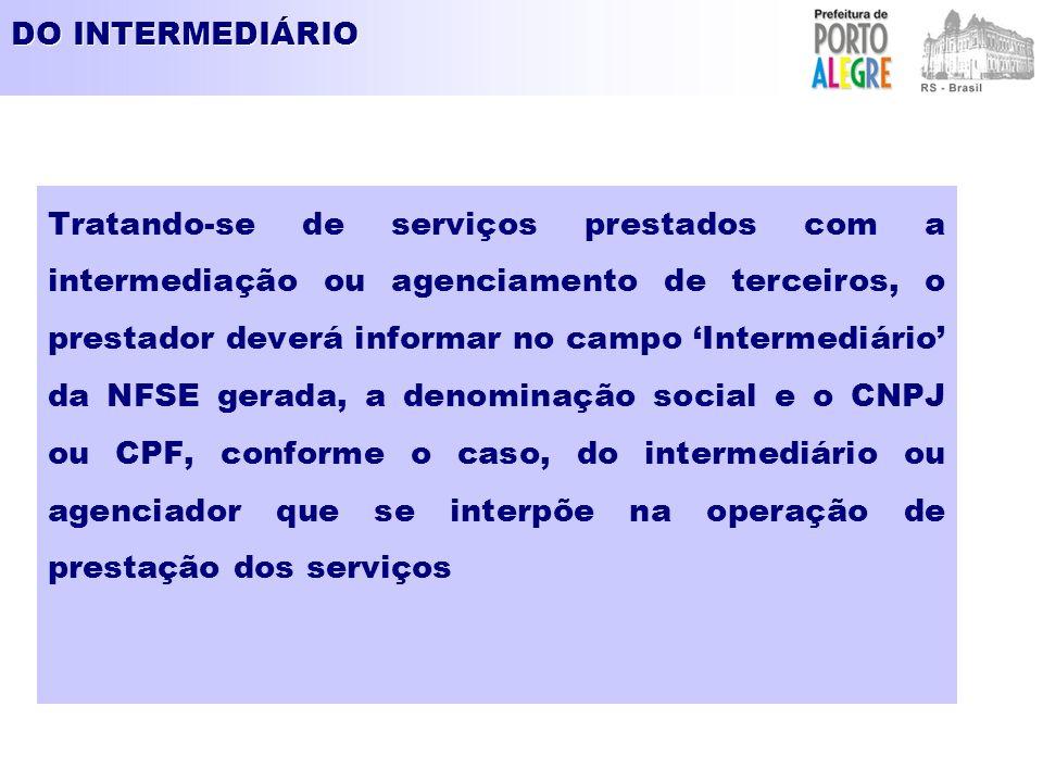 DO INTERMEDIÁRIO