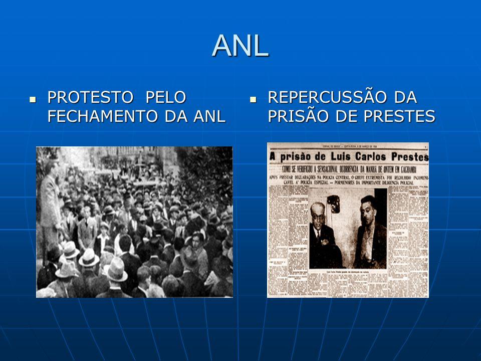 ANL PROTESTO PELO FECHAMENTO DA ANL REPERCUSSÃO DA PRISÃO DE PRESTES