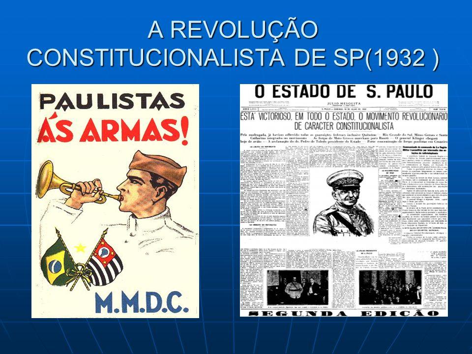 A REVOLUÇÃO CONSTITUCIONALISTA DE SP(1932 )
