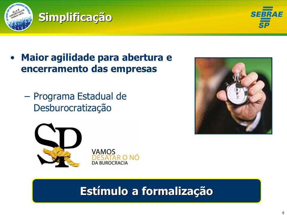 Estímulo a formalização