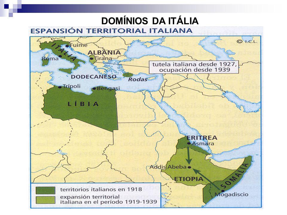 DOMÍNIOS DA ITÁLIA