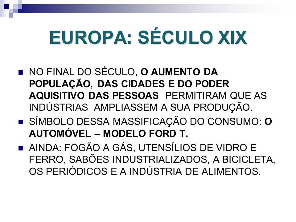 EUROPA: SÉCULO XIX