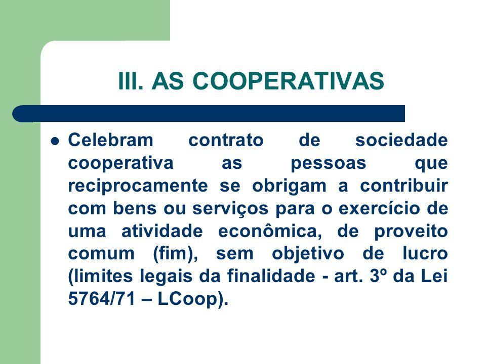 III. AS COOPERATIVAS