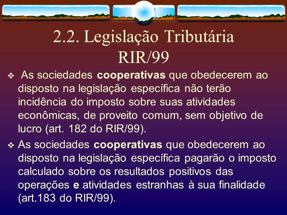 2.2. Legislação Tributária RIR/99