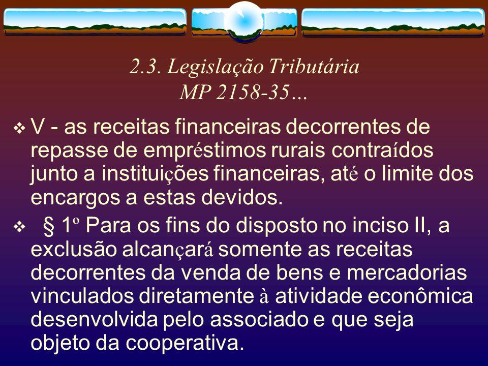 2.3. Legislação Tributária MP 2158-35…