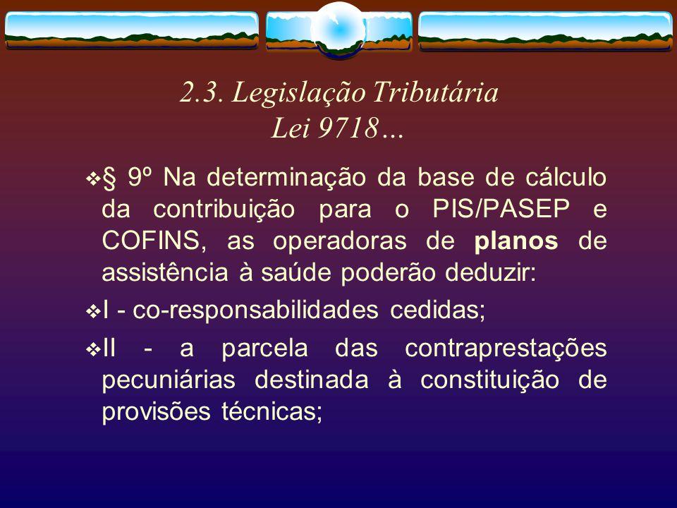 2.3. Legislação Tributária Lei 9718…