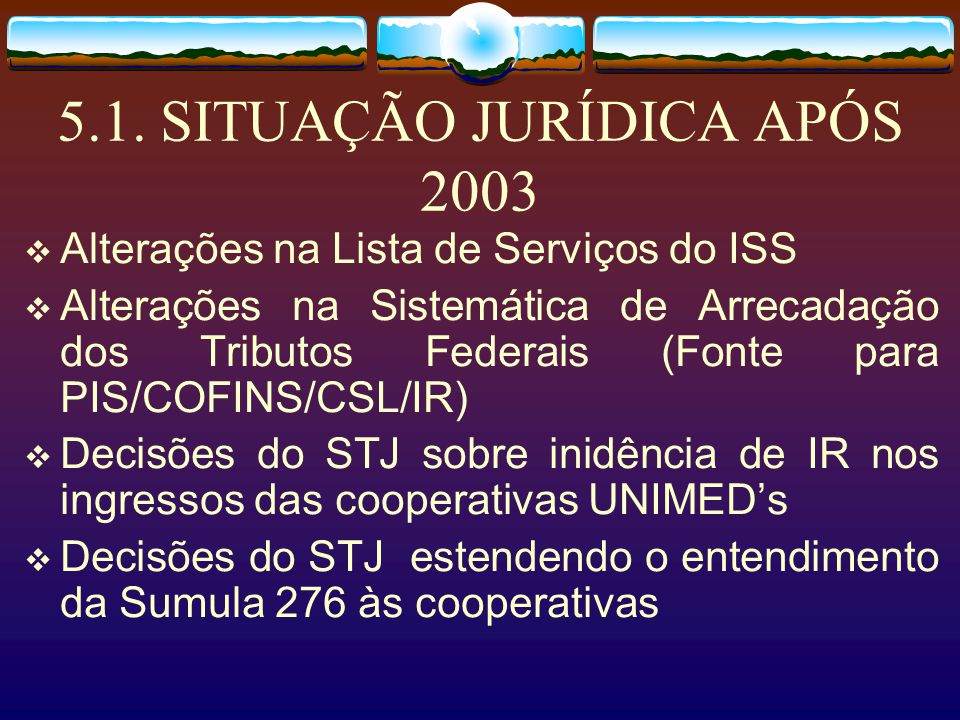 5.1. SITUAÇÃO JURÍDICA APÓS 2003