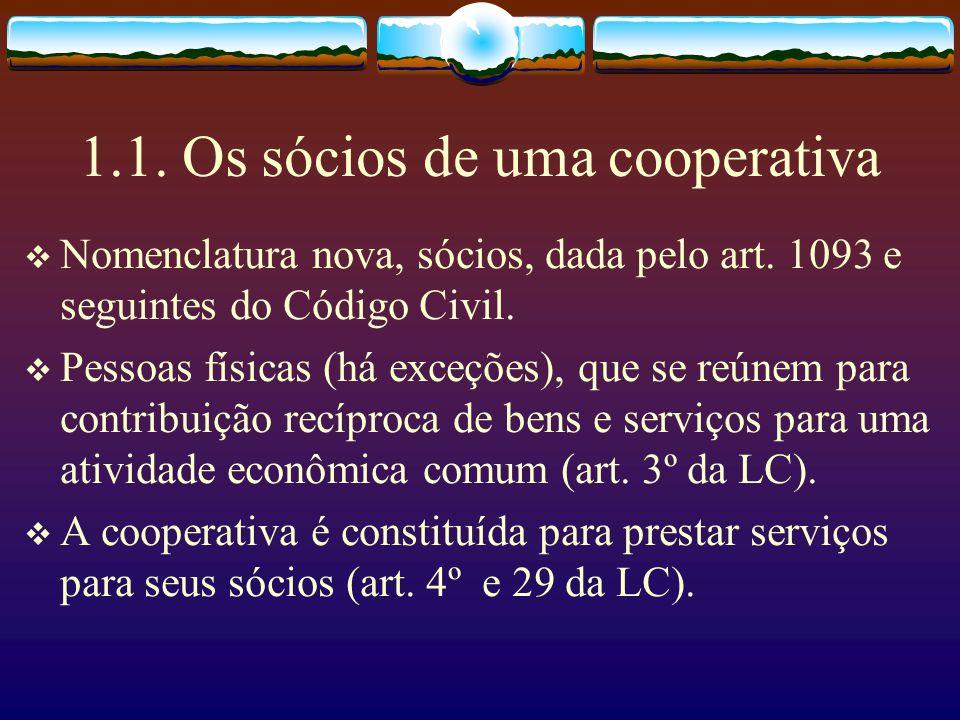 1.1. Os sócios de uma cooperativa
