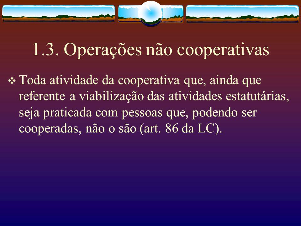1.3. Operações não cooperativas