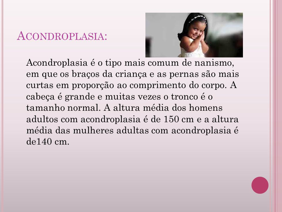 Acondroplasia: