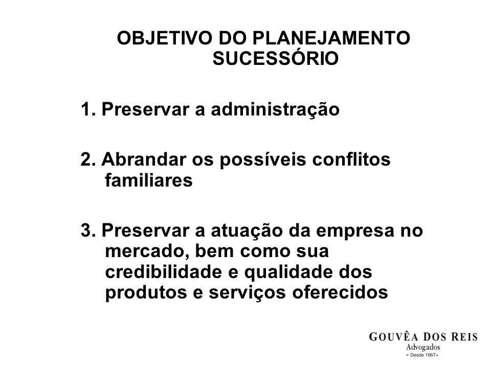 OBJETIVO DO PLANEJAMENTO SUCESSÓRIO