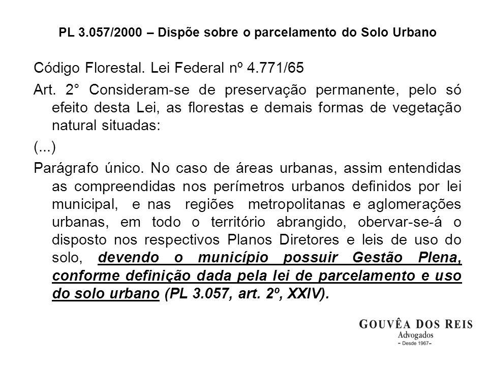 PL 3.057/2000 – Dispõe sobre o parcelamento do Solo Urbano
