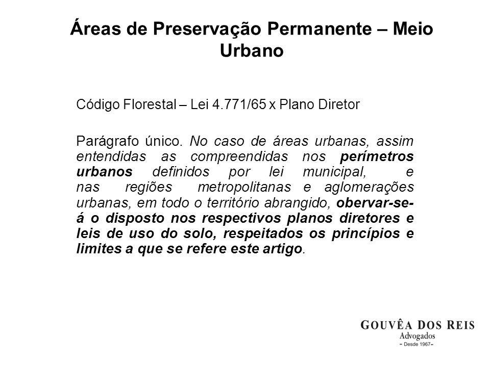 Áreas de Preservação Permanente – Meio Urbano