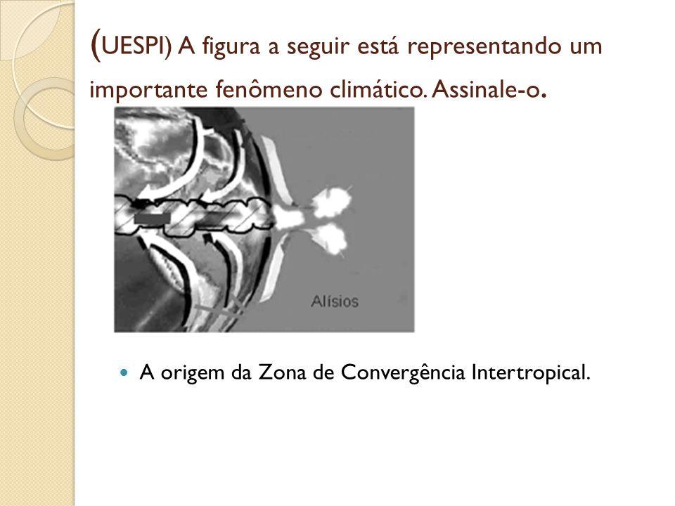 (UESPI) A figura a seguir está representando um importante fenômeno climático. Assinale-o.
