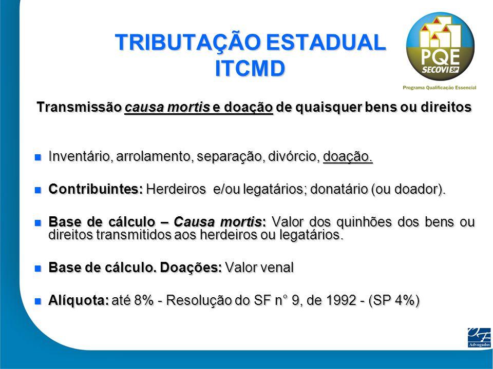 TRIBUTAÇÃO ESTADUAL ITCMD