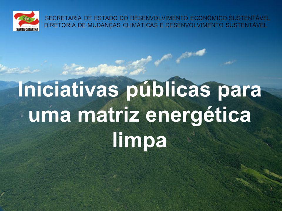 Iniciativas públicas para uma matriz energética limpa