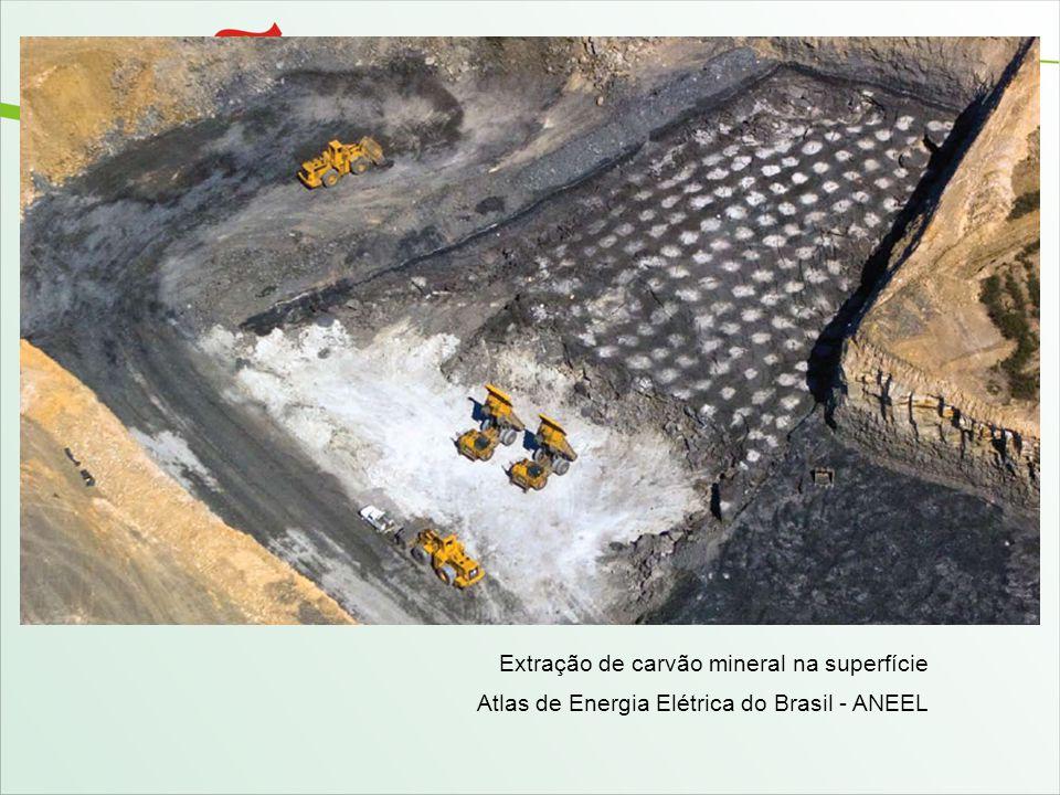 Extração de carvão mineral na superfície