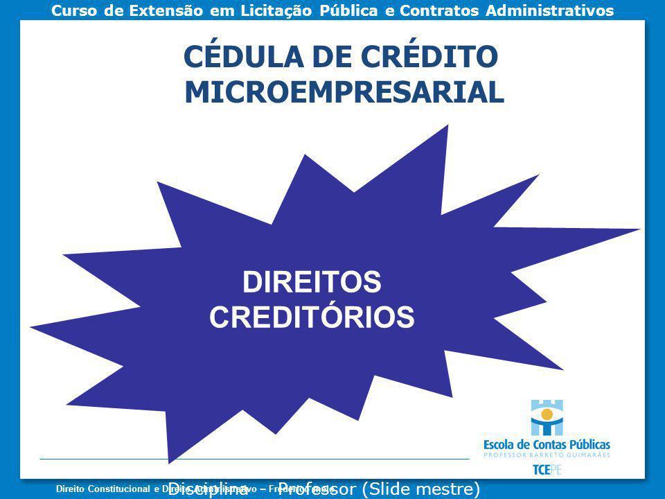 CÉDULA DE CRÉDITO MICROEMPRESARIAL