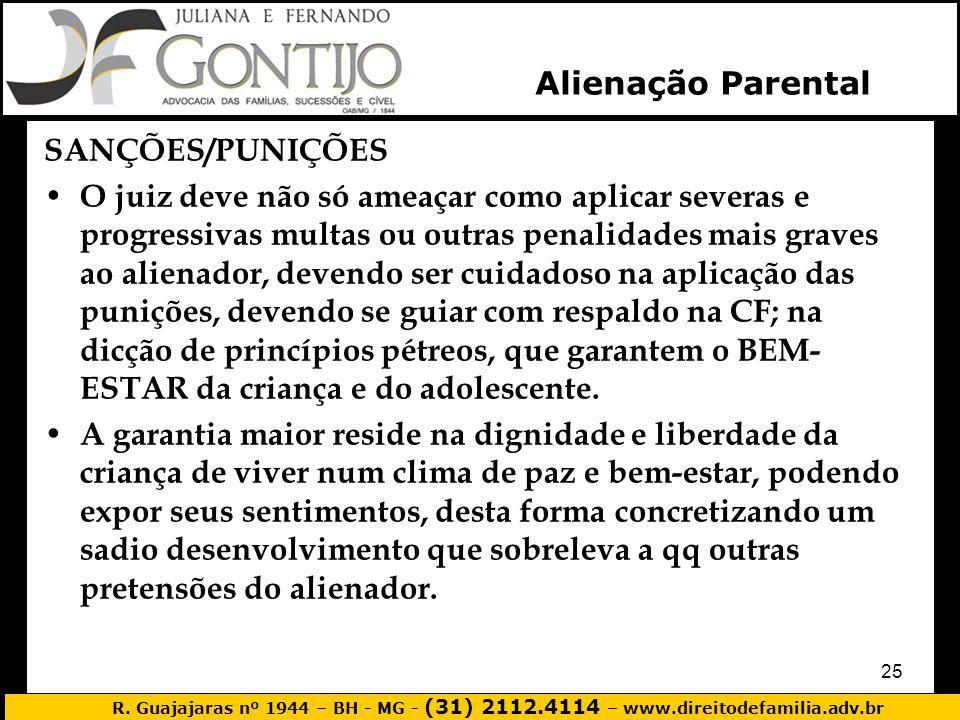 Alienação Parental SANÇÕES/PUNIÇÕES