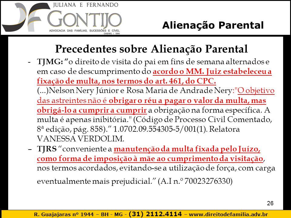 Precedentes sobre Alienação Parental