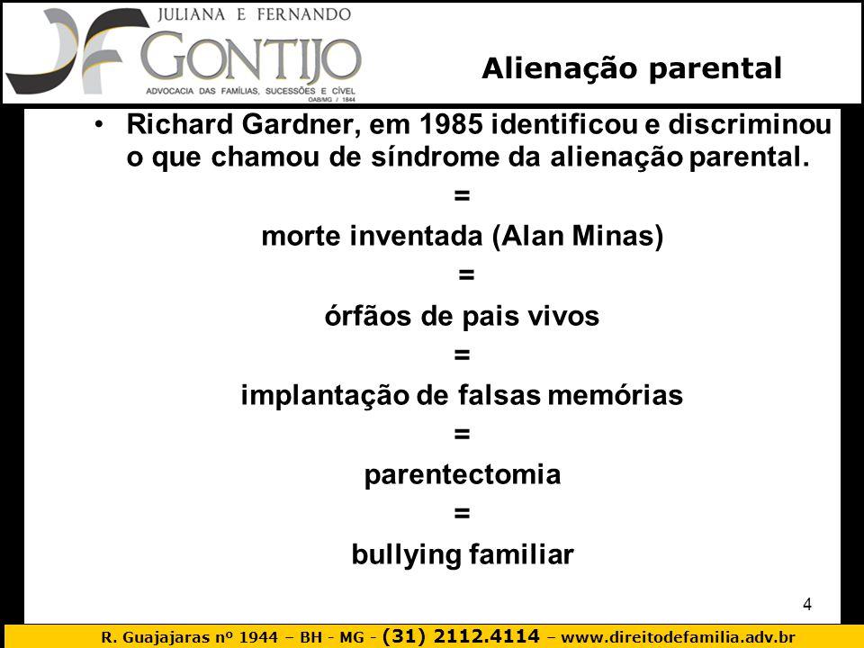 morte inventada (Alan Minas) implantação de falsas memórias