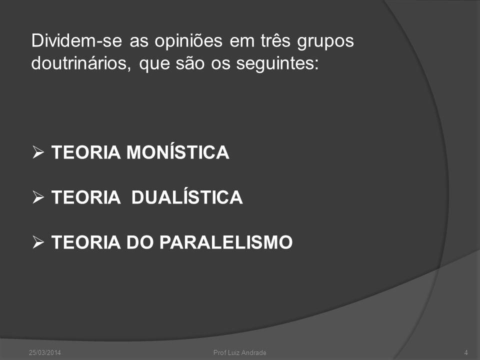 Dividem-se as opiniões em três grupos doutrinários, que são os seguintes: