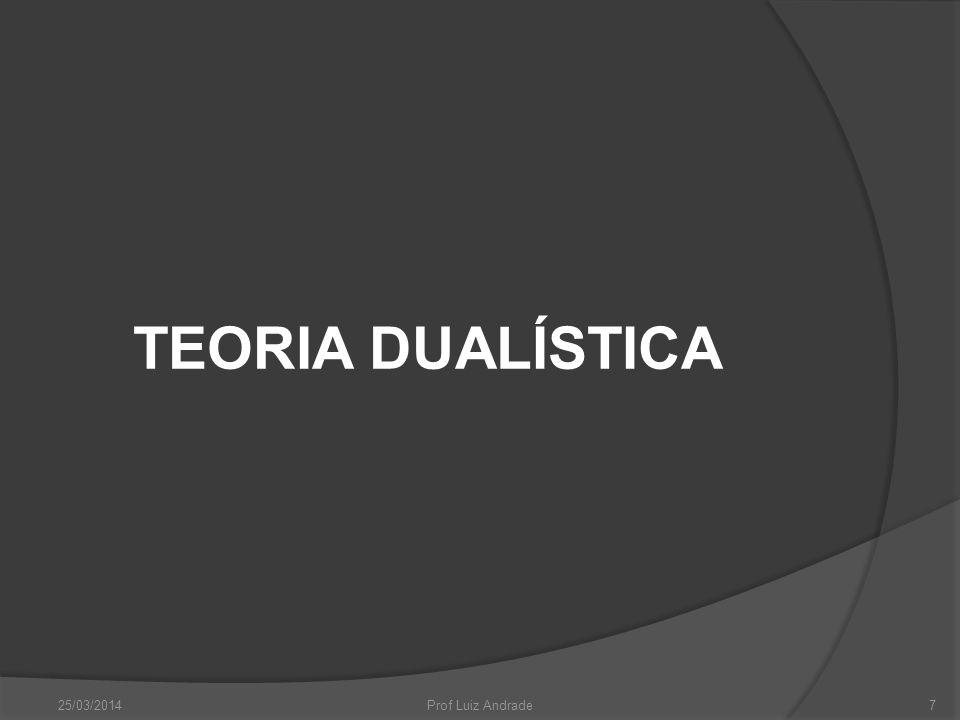 TEORIA DUALÍSTICA 25/03/2014 Prof Luiz Andrade