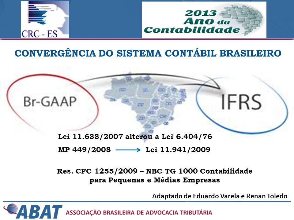 CONVERGÊNCIA DO SISTEMA CONTÁBIL BRASILEIRO