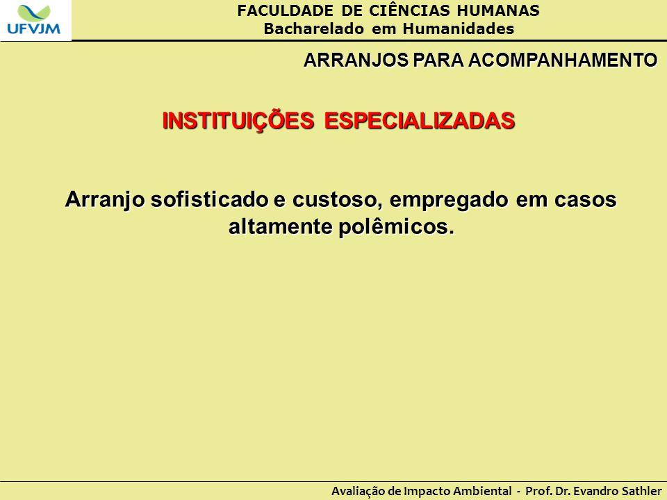 INSTITUIÇÕES ESPECIALIZADAS