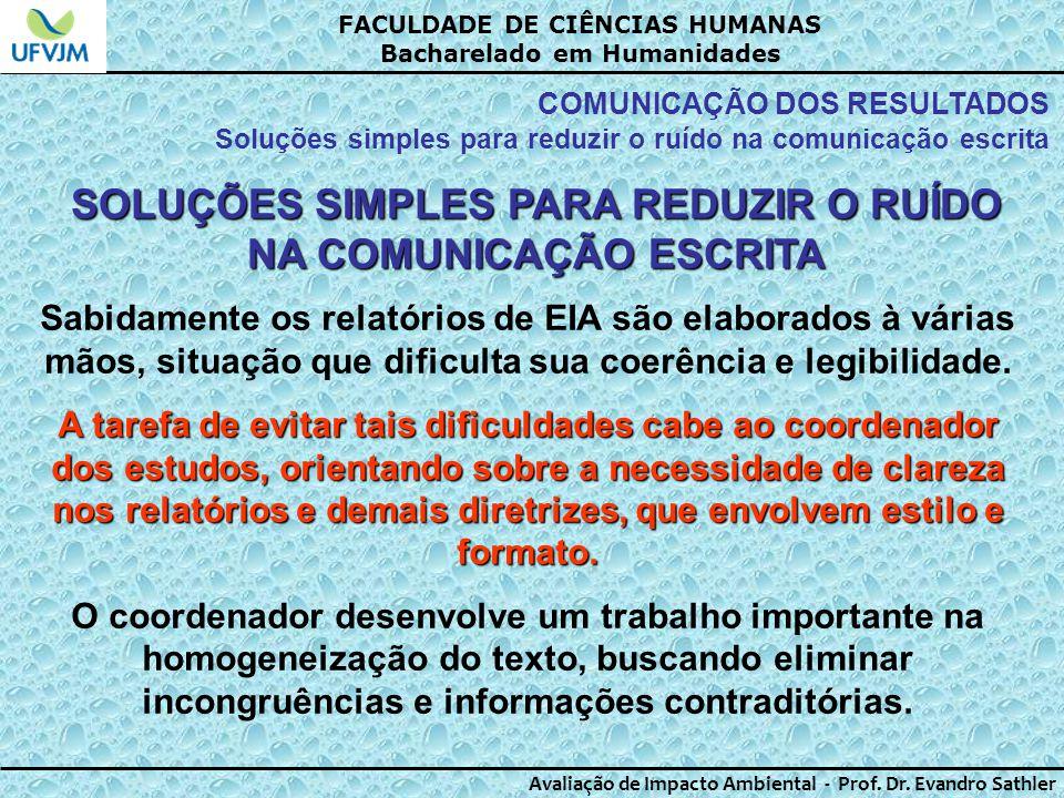 SOLUÇÕES SIMPLES PARA REDUZIR O RUÍDO NA COMUNICAÇÃO ESCRITA