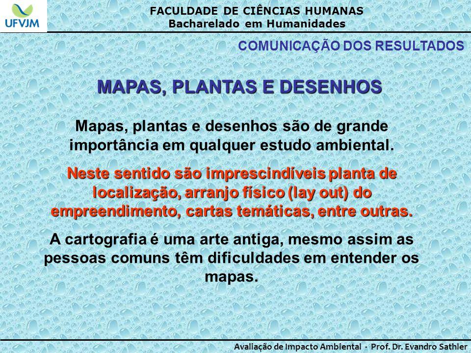 MAPAS, PLANTAS E DESENHOS