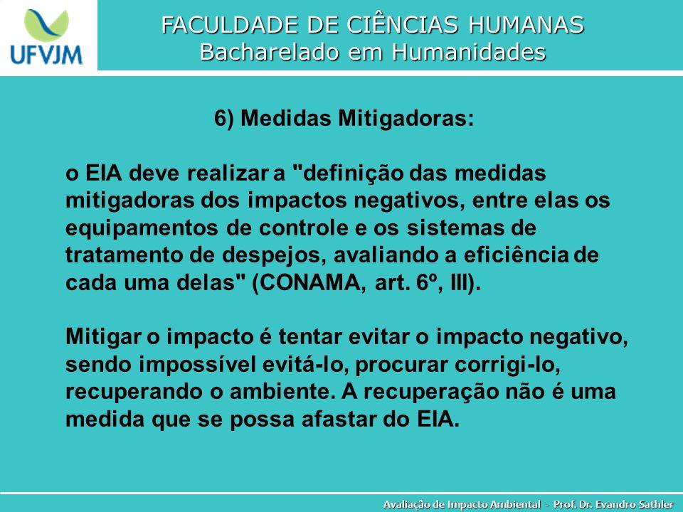 6) Medidas Mitigadoras: