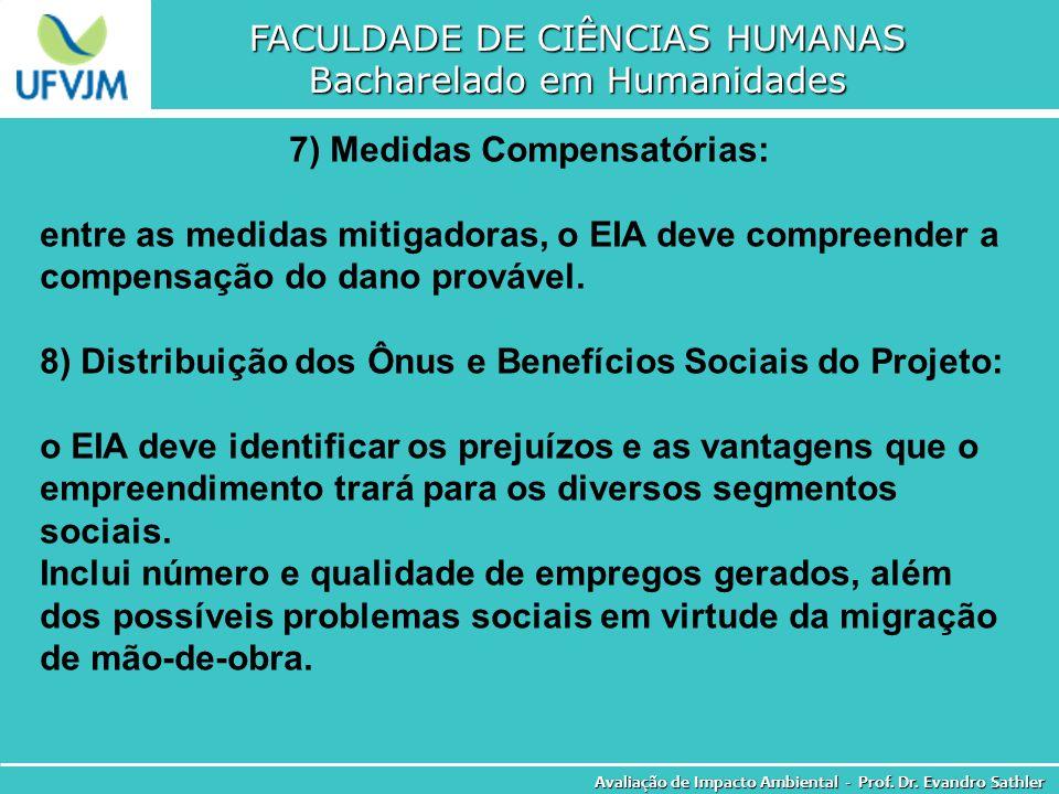 7) Medidas Compensatórias: