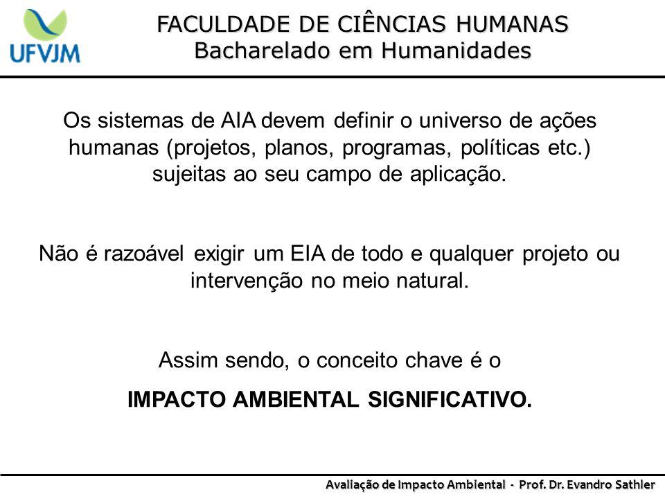IMPACTO AMBIENTAL SIGNIFICATIVO.