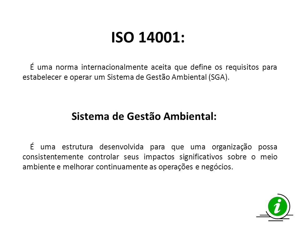 Sistema de Gestão Ambiental: