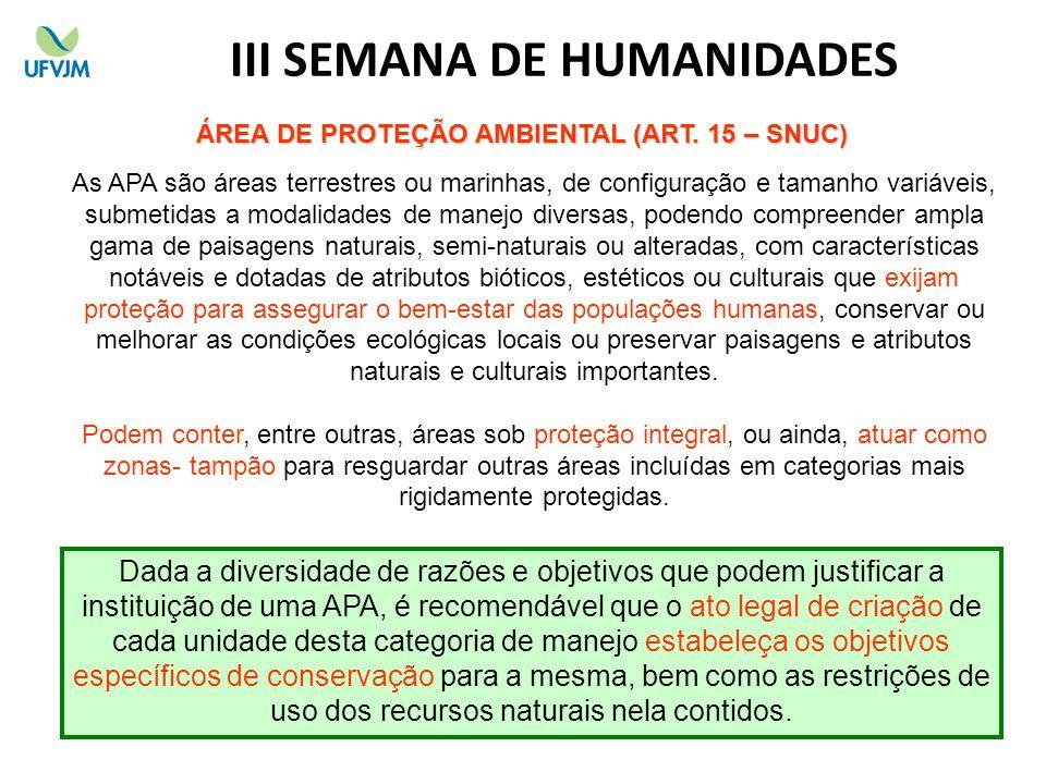 III SEMANA DE HUMANIDADES