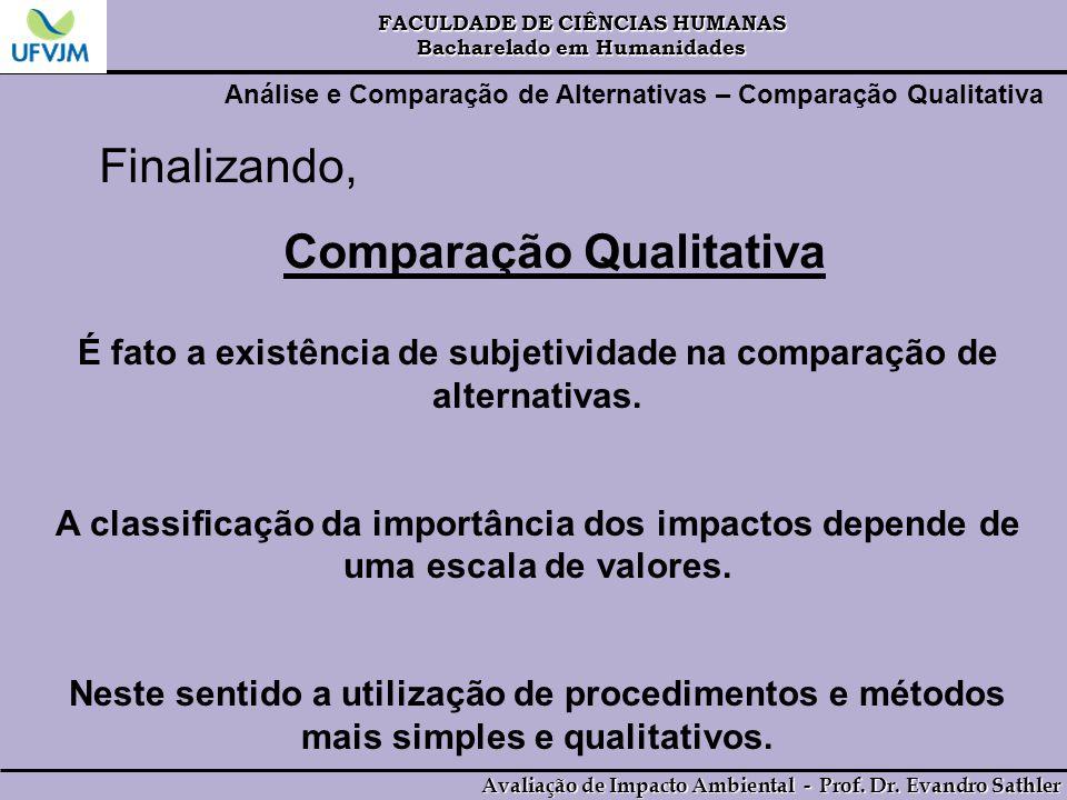 Comparação Qualitativa