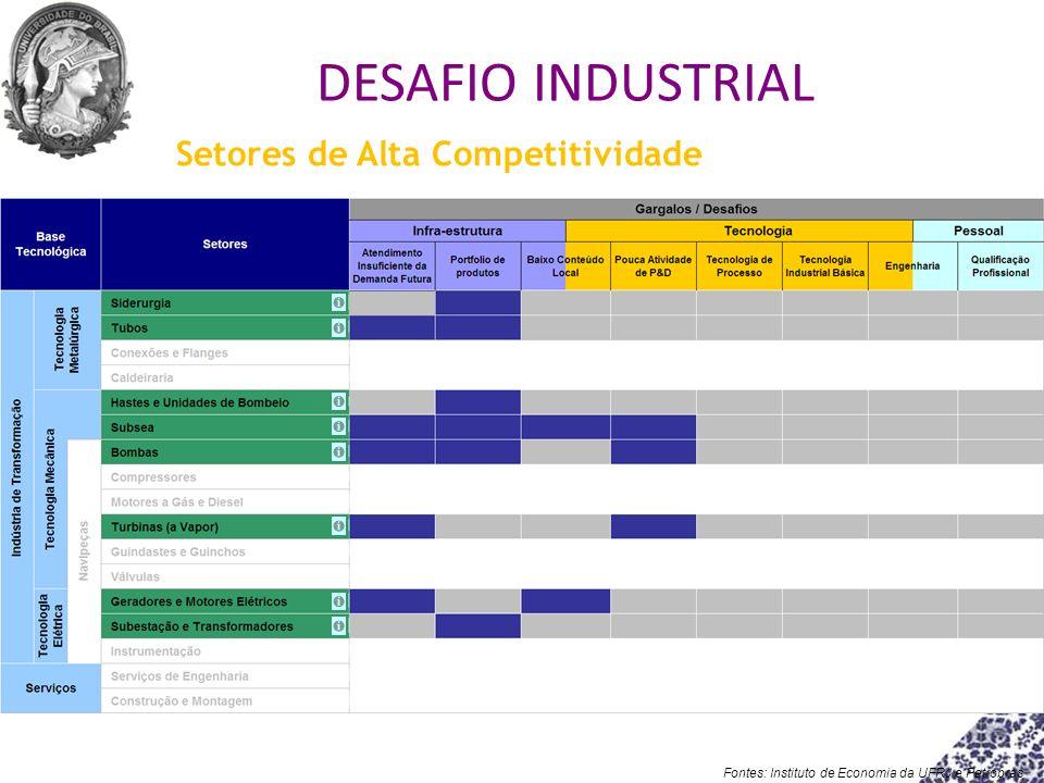 Fontes: Instituto de Economia da UFRJ e Petrobras