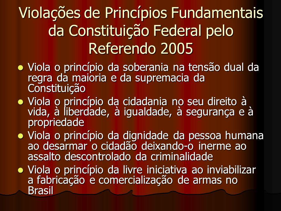 Violações de Princípios Fundamentais da Constituição Federal pelo Referendo 2005