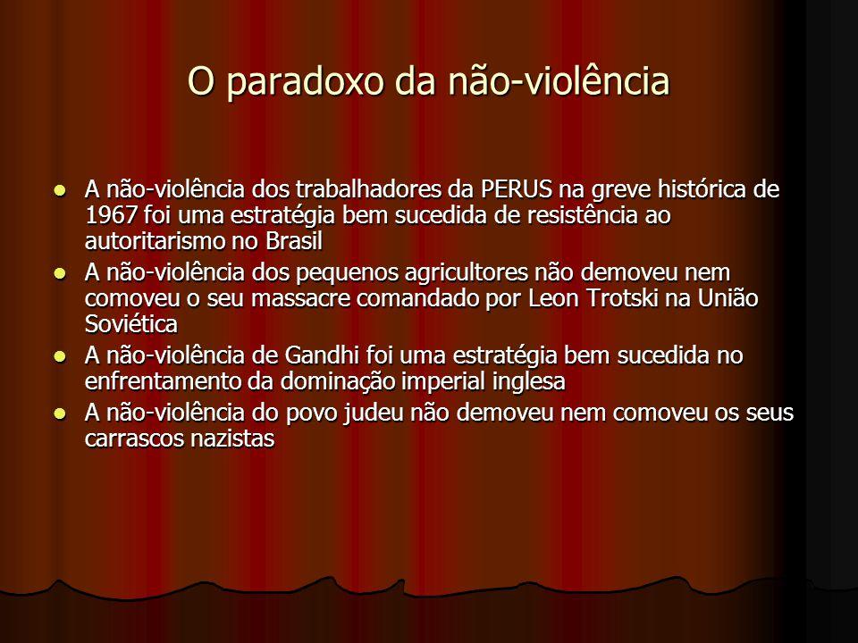 O paradoxo da não-violência