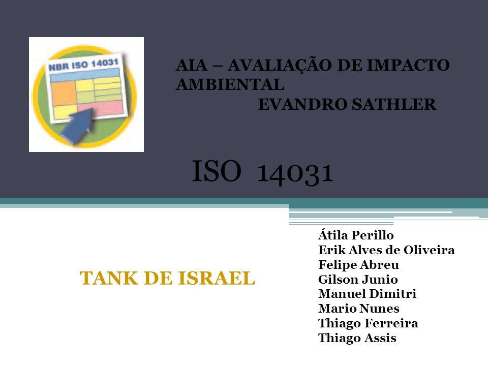 ISO 14031 TANK DE ISRAEL AIA – AVALIAÇÃO DE IMPACTO AMBIENTAL