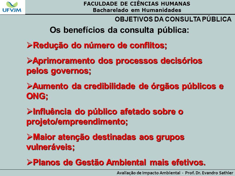 Os benefícios da consulta pública: